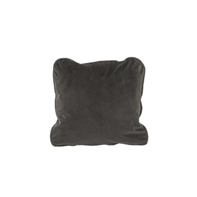 Housse de coussin Velvet, gris H.50 x l.50 cm