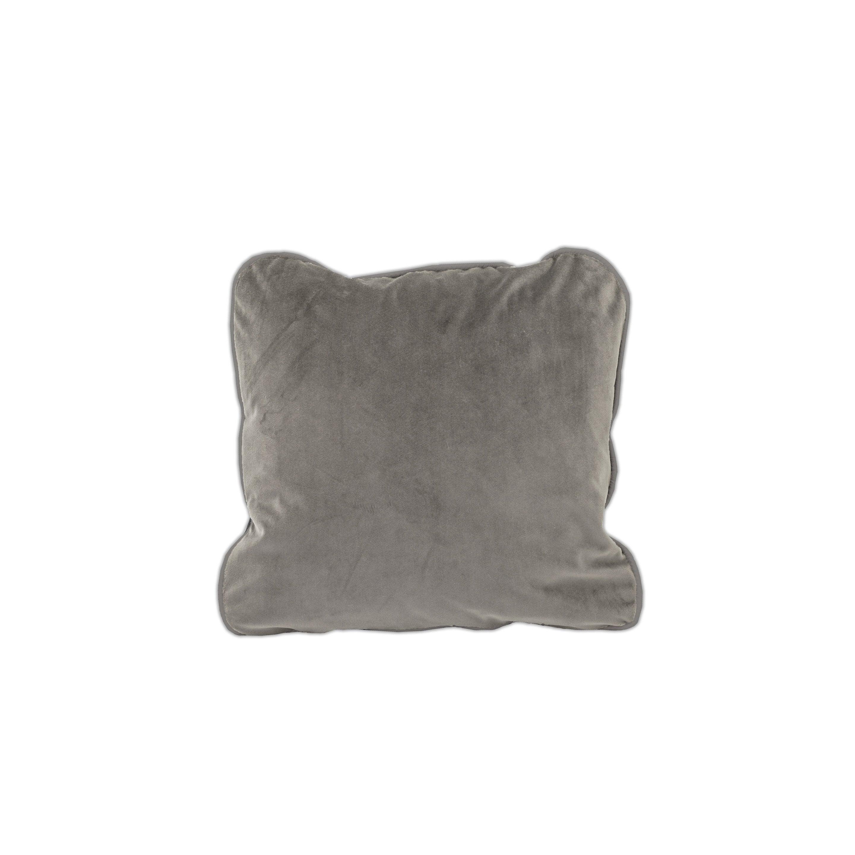 Housse de coussin Velvet, taupe H.50 x l.50 cm