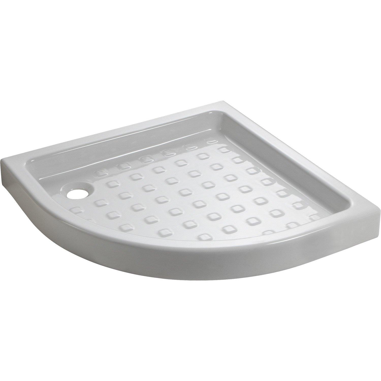 receveur de douche 1/4 de rond 80x80