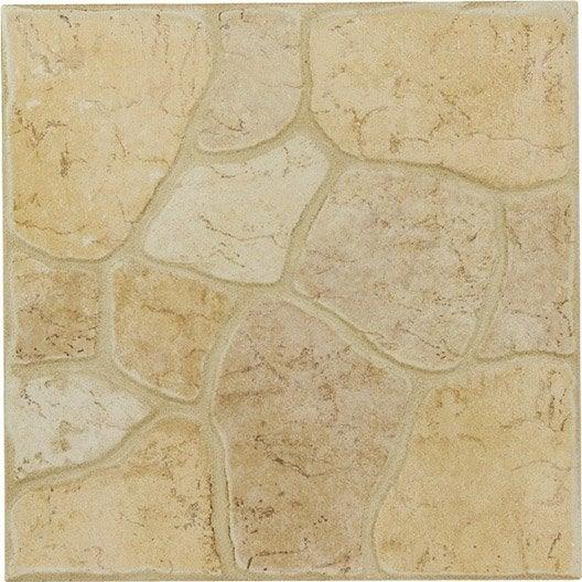 Carrelage ext rieur galet en gr s c rame maill ivoire for Carrelage galet exterieur