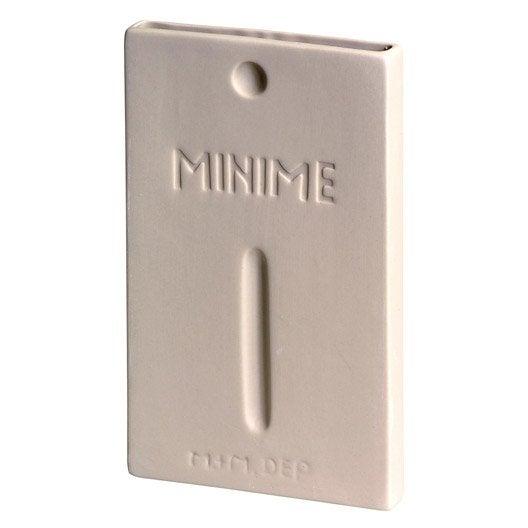 Saturateur minime standard c ramique ivoire 320 ml leroy merlin - Humidificateur de radiateur ...