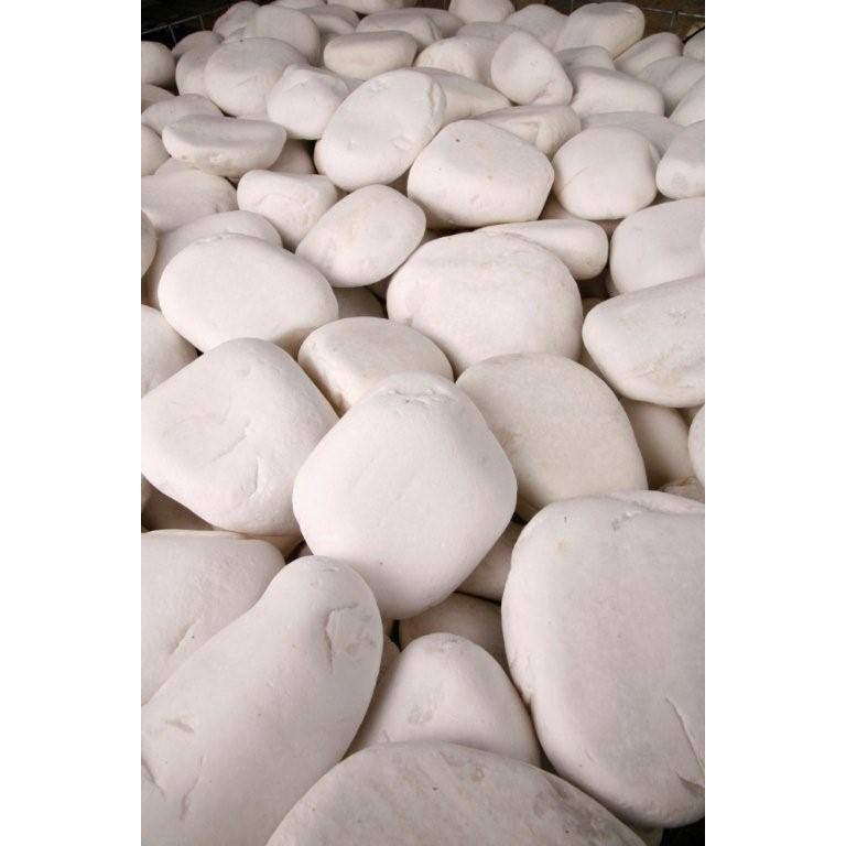 Galets purs en marbre, blanc, 40/60 mm, 10 kg | Leroy Merlin