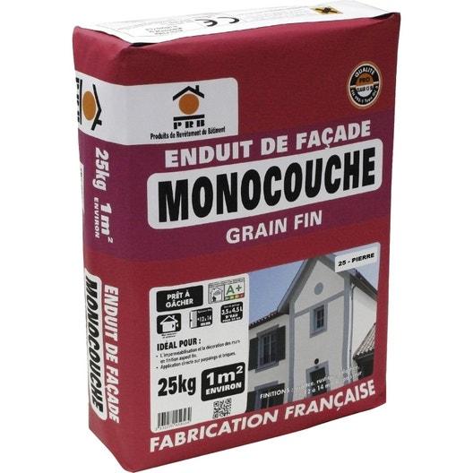 enduit monocouche ton pierre prb 25 kg leroy merlin. Black Bedroom Furniture Sets. Home Design Ideas