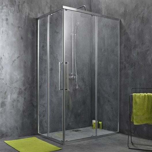 porte de douche coulissante angle rectangle 120 x 80 cm. Black Bedroom Furniture Sets. Home Design Ideas