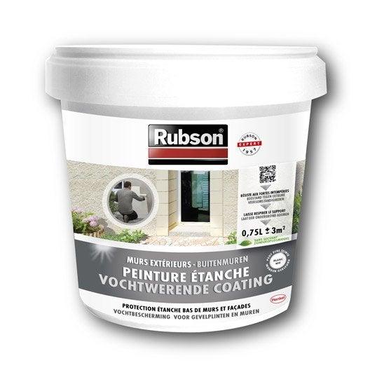 Peinture tanche stop infiltration bas de mur rubson blanc l leroy me - Rubson stop infiltration ...