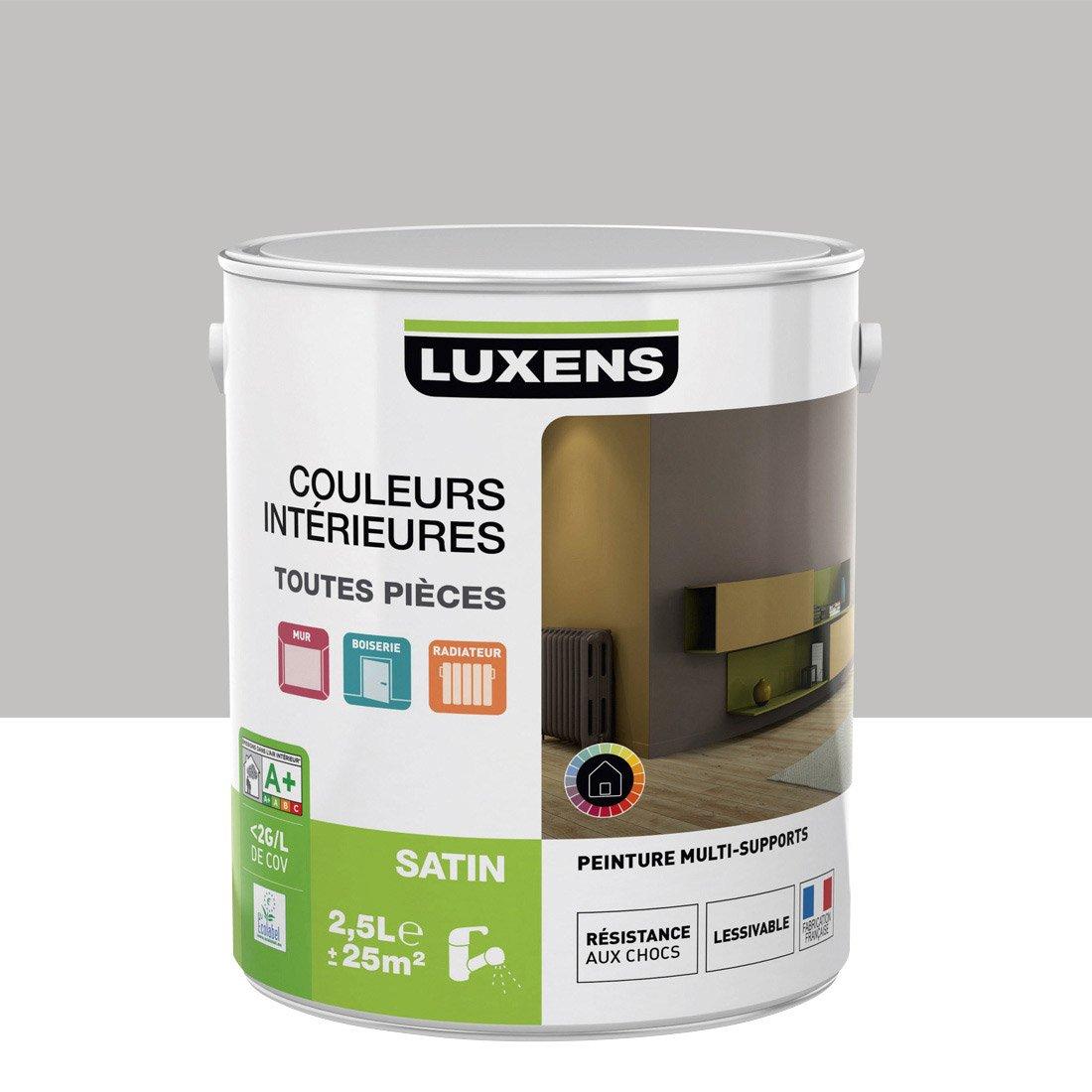 peinture gris galet 5 satin luxens couleurs intrieures satin 25 l