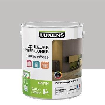 Peinture gris galet 5 LUXENS Couleurs intérieures satin 2.5 l