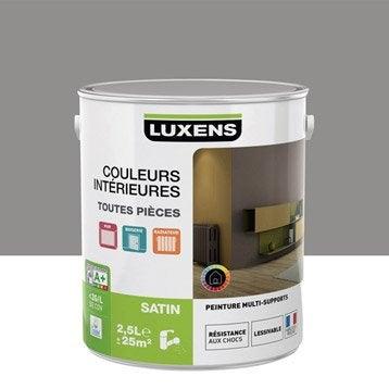 Peinture gris galet 3 LUXENS Couleurs intérieures satin 2.5 l