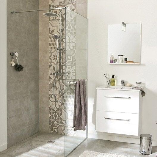 Paroi de douche l 39 italienne cm verre transparent 8 - Siege pour douche italienne ...