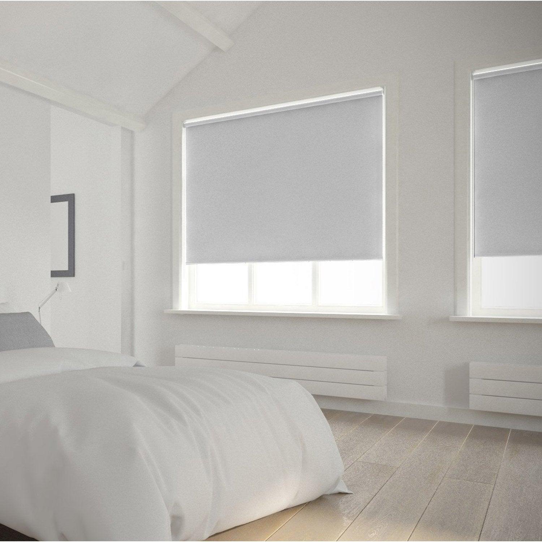 Store enrouleur occultant 5715 INSPIRE, blanc blanc n°0, 150x250 cm