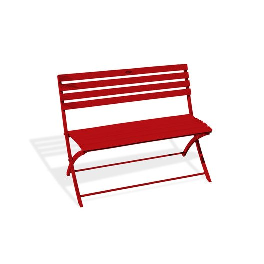 banc 2 places de jardin en aluminium marius rouge leroy merlin. Black Bedroom Furniture Sets. Home Design Ideas