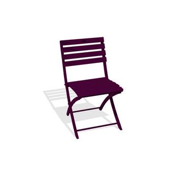 Chaise De Jardin En Aluminium Marius Aubergine
