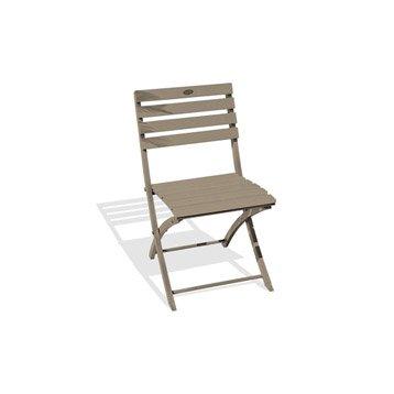 Chaise de jardin en aluminium Marius beige