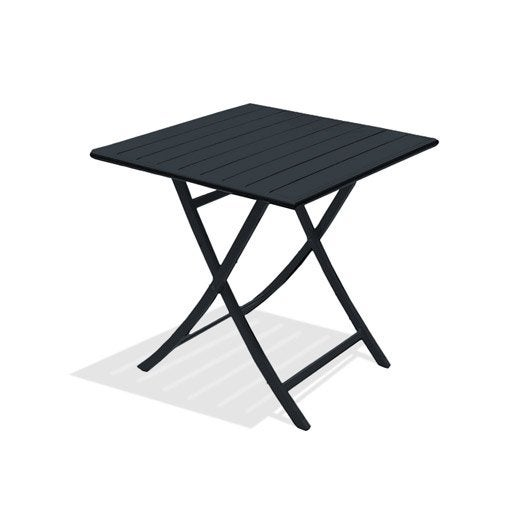 Table de jardin aluminium bois r sine leroy merlin for Dimension table 6 personnes