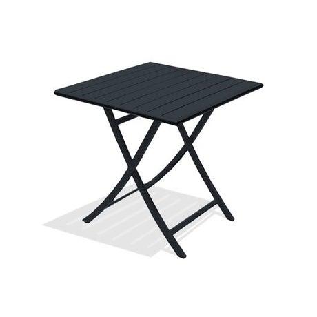 Table de jardin aluminium bois r sine leroy merlin for Table de jardin resine gris anthracite