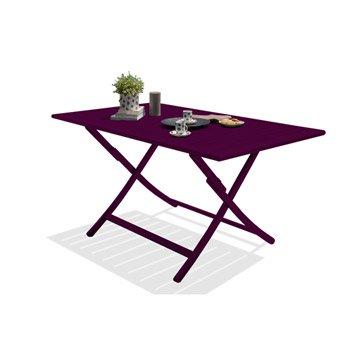 Table de jardin Marius rectangulaire aubergine 4/6 personnes