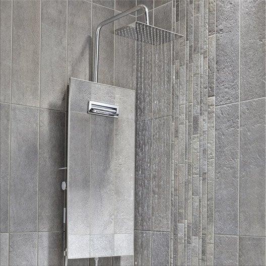 Colonne de douche avec robinetterie valentin totem leroy merlin - Installation colonne de douche ...