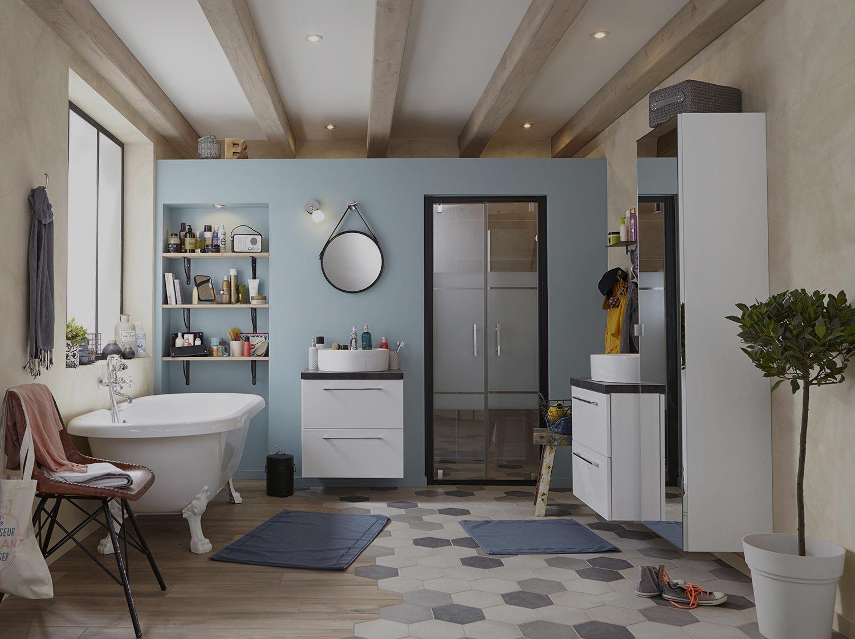 Votre projet salle de bains leroy merlin for Photos salle de bain tendance