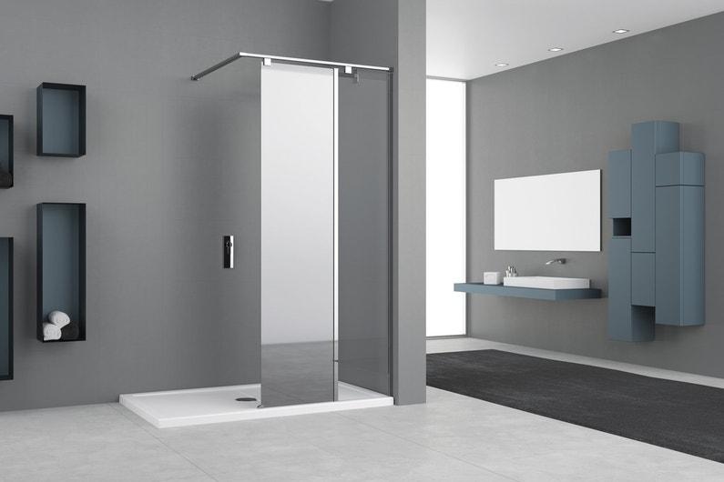 Une paroi en verre miroir sa douche italienne facile d - Entretien galets douche italienne ...
