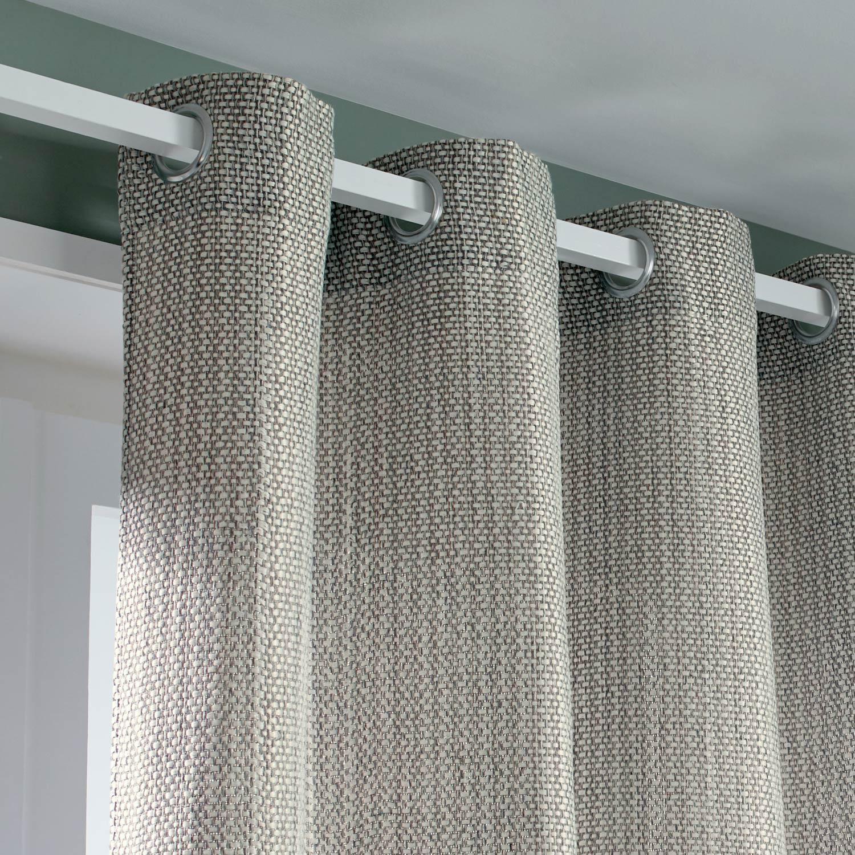 rideau tamisant erik gris clair x cm inspire rideau classique. Black Bedroom Furniture Sets. Home Design Ideas