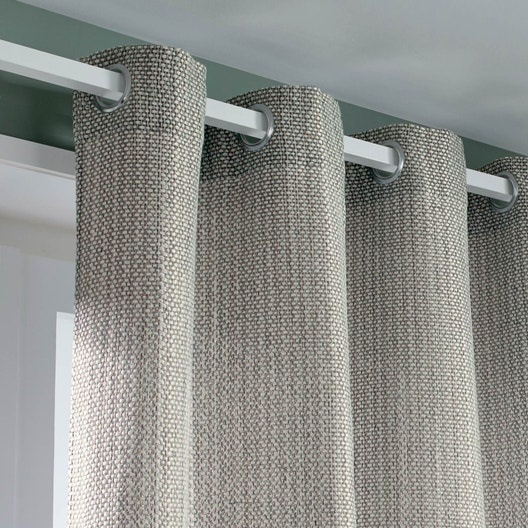 rideau tamisant erik gris clair x cm inspire leroy merlin. Black Bedroom Furniture Sets. Home Design Ideas