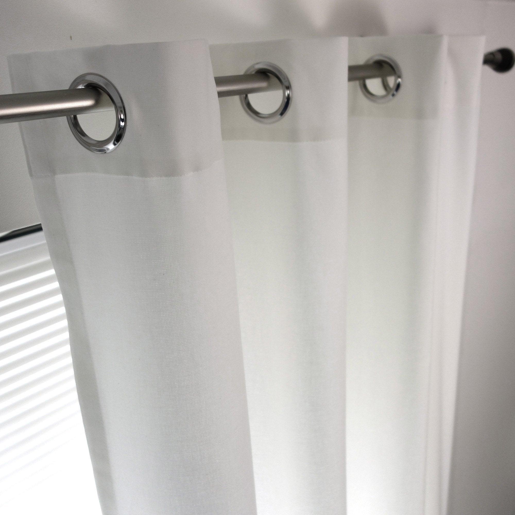 Rideau tamisant, coton, Sunny blanc l.140 x H.260 cm
