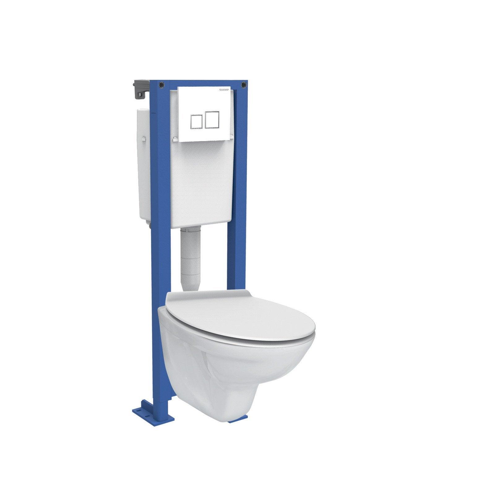 Comment Installer Toilette Suspendu pack wc suspendu bâti universel verticale saphir siamp