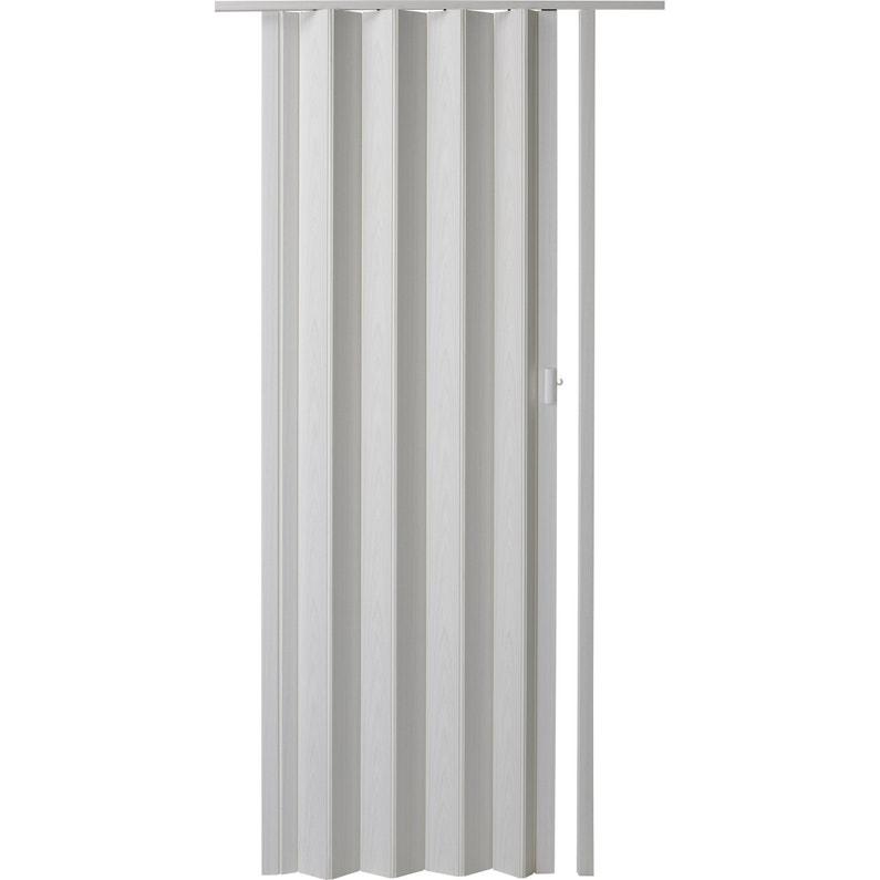 Porte Extensible Rio Frêne Blanc H205 X L85 Cm X Ep6 Mm