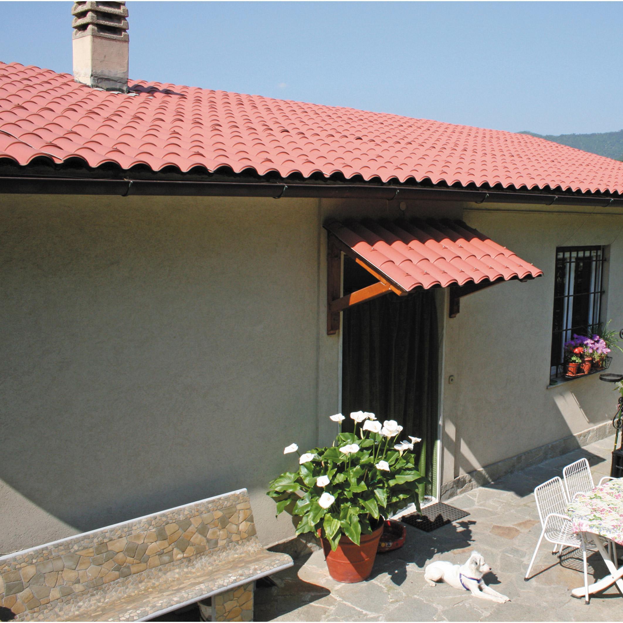 Plaque de toiture imitation tuile composite terracotta l1.03xL.2.08m FIRST PLAST | Leroy Merlin