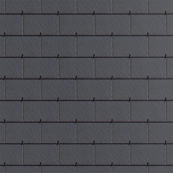 Ardoise En Relief Fibrociment Kergoat Gris Anthracite 40x24 Cm Leroy Merlin