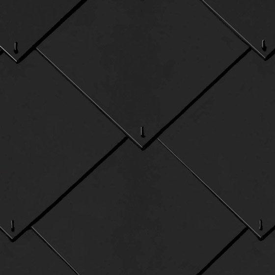 Ardoise Losangee Fibrociment Artoit Noire 40x40 Cm Leroy Merlin