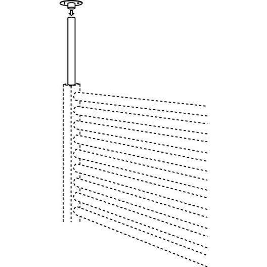 Fixation de plafond pour s che serviettes jaga leroy merlin - Fixation seche serviette electrique ...