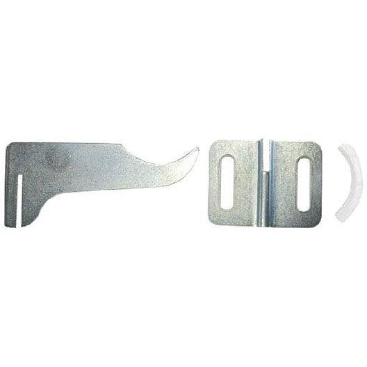 Kit de fixation en acier galvanisé nickelé HAMMEL