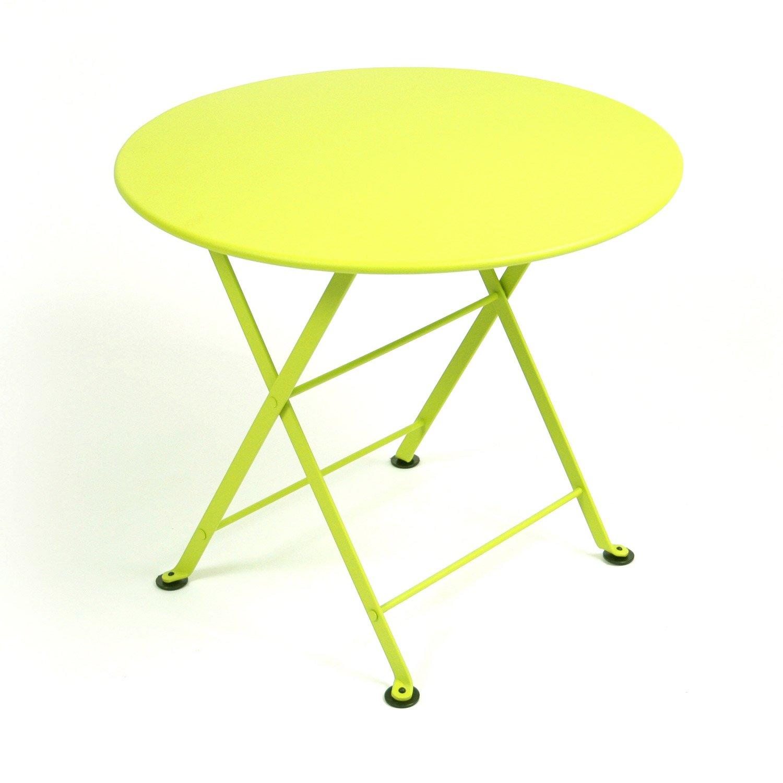 table de jardin pour enfants fermob tom pouce ronde verveine 2 personnes leroy merlin. Black Bedroom Furniture Sets. Home Design Ideas
