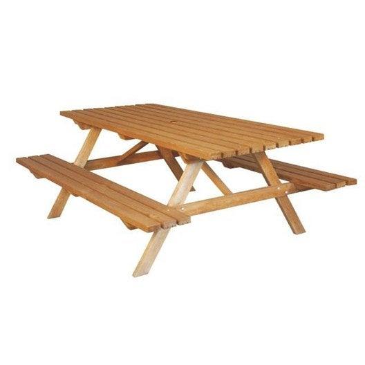 Table de jardin foresti re rectangulaire vert 8 personnes leroy merlin - Table de jardin 8 personnes ...