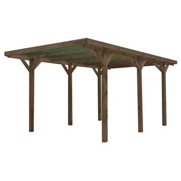 Carport en bois ENZO, 15.71 m²