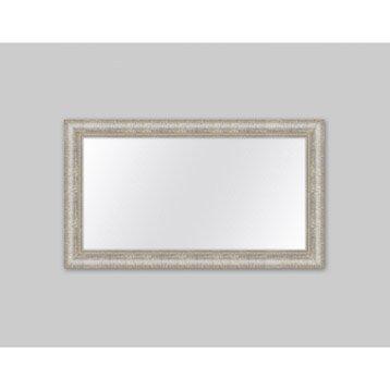 Miroir Orné strié, argent, l.60 x H.120 cm