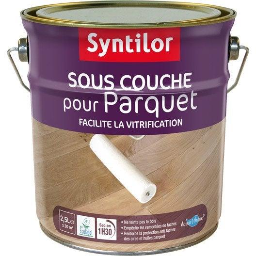 Sous-Couche Et Teinte Parquet Aquaréthane Syntilor, 2.5 L | Leroy