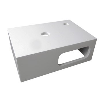 Lave mains boxy m lamin blanc 42 x 29 cm - Meuble lave main wc leroy merlin ...