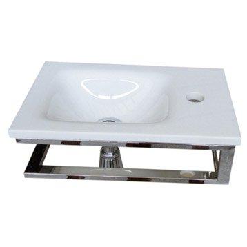 Lave-mains verre blanc l.40 x P.25 cm, Toscane