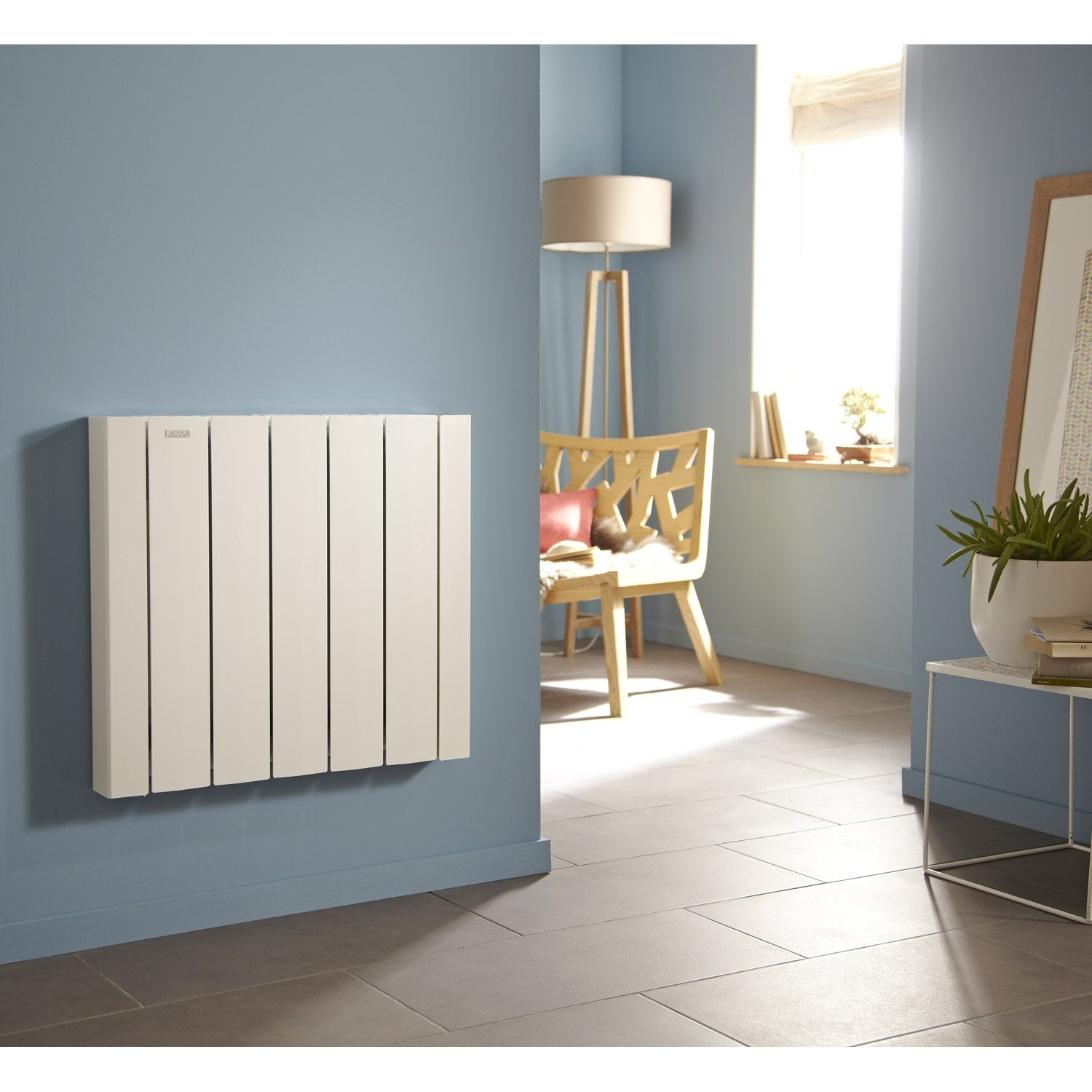 radiateur lectrique inertie fluide acova mohair lcd 750 w leroy merlin. Black Bedroom Furniture Sets. Home Design Ideas