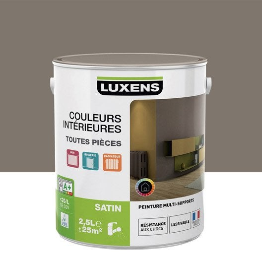 Peinture Brun Taupe 3 Luxens Couleurs Intérieures Satin 2.5 L