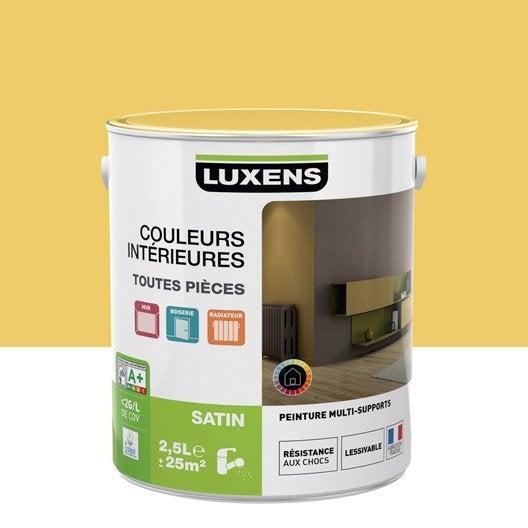 Peinture jaune serin 4 LUXENS Couleurs intérieures satin 2.5 l