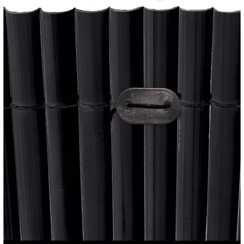 kit de fixation pour canisse plastique naterial fixcane 26 past 26 fils noir leroy merlin. Black Bedroom Furniture Sets. Home Design Ideas