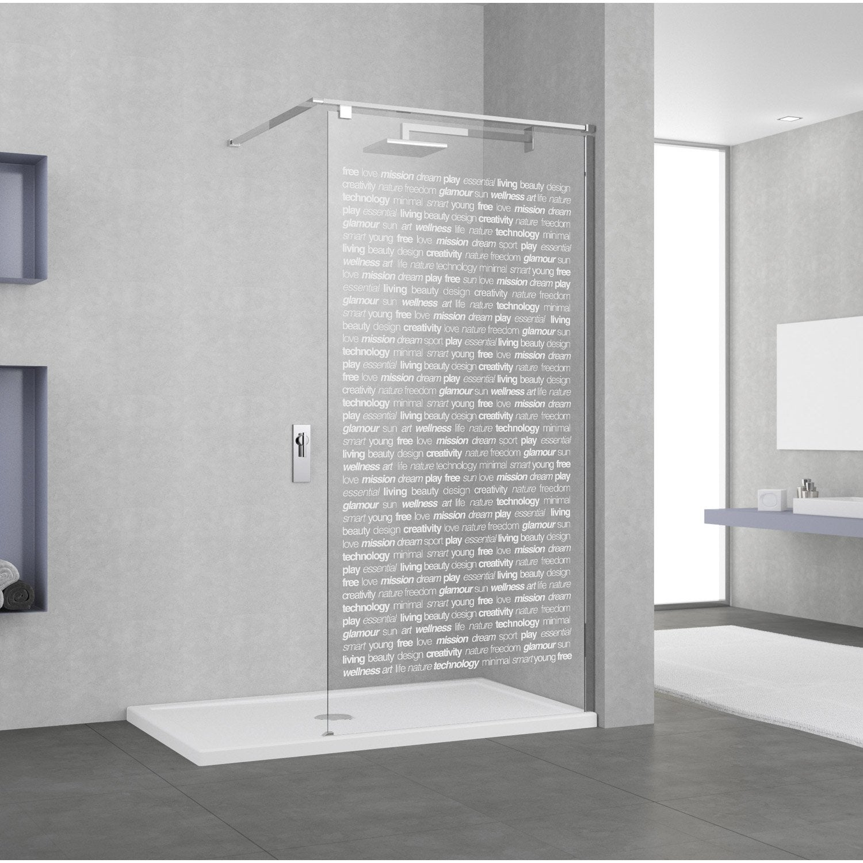simple paroi de douche luitalienne l cm verre srigraphi mm. Black Bedroom Furniture Sets. Home Design Ideas
