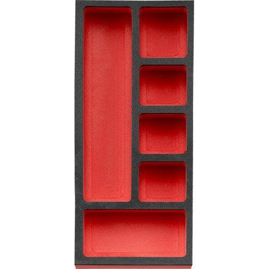plateau mousse facom cm rouge et noir leroy merlin. Black Bedroom Furniture Sets. Home Design Ideas