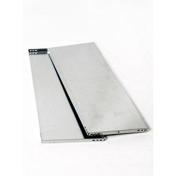 Tablette pour système modulaire versatile AR SISTEMAS, l.80 x H.3.2 x P.50 cm