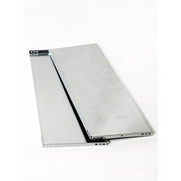 Tablette pour système modulaire versatile AR SISTEMAS, l.100 x H.3.2 x P.50 cm