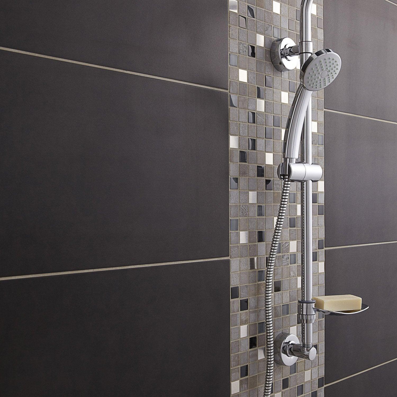Mosaïque mur Glasstone oslo noir 2.3 x 2.3 cm | Leroy Merlin