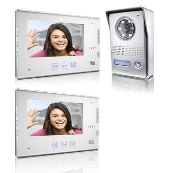 Pack visiophone 1 platine + 2 écrans filaire, SOMFY V400